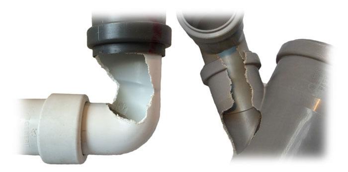 Schäden an Rohren durch Ratten - Verhinderbar mit einer Rattensperre von Pipe|Sec