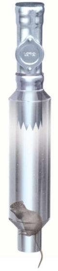 Rattentrichter für Regenwasserfallrohre - Feuerverzinkt - LORO-X Rattenstop