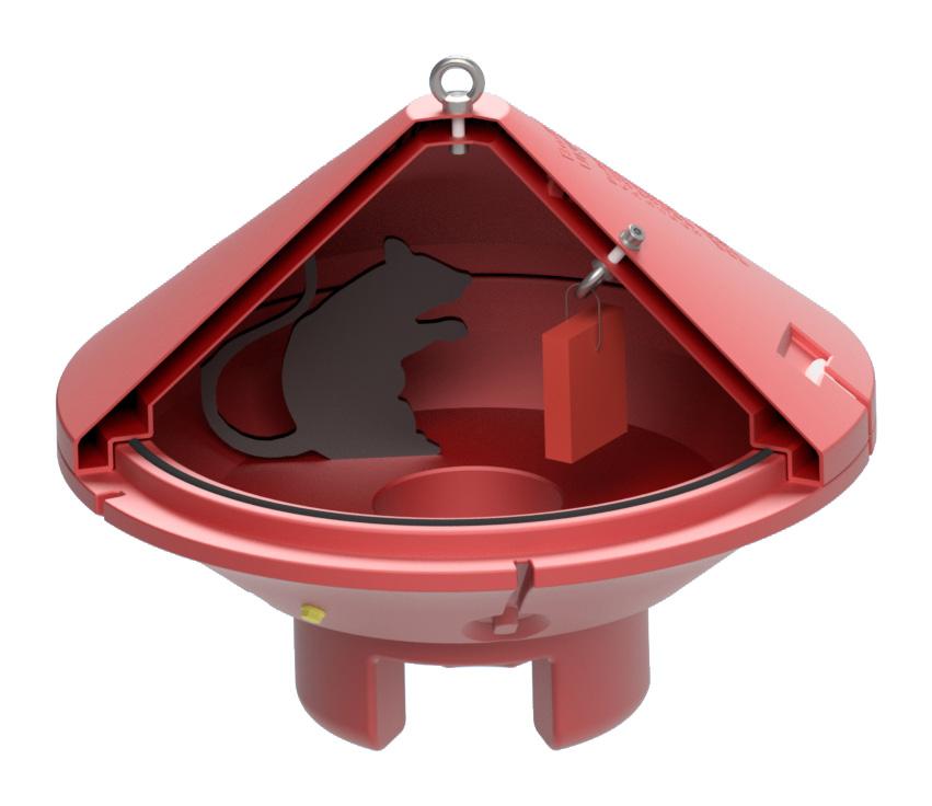 Rattenköderbox für den Rechtssicheren Einsatz im Städtischen Kanal