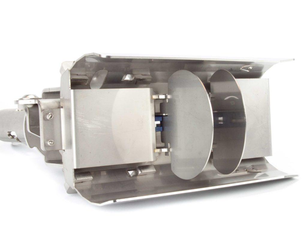 Unterseite des SewaTech RatBlockers mit zwei Pendelklappen