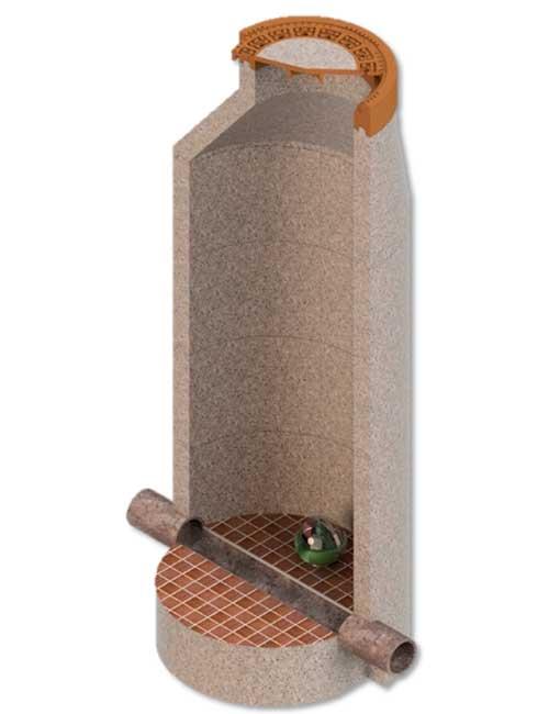 Köderbox für den Einsatz im Kanalschacht