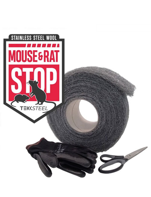 Abdichtung von Spalten gegen Mäuse und Ratten